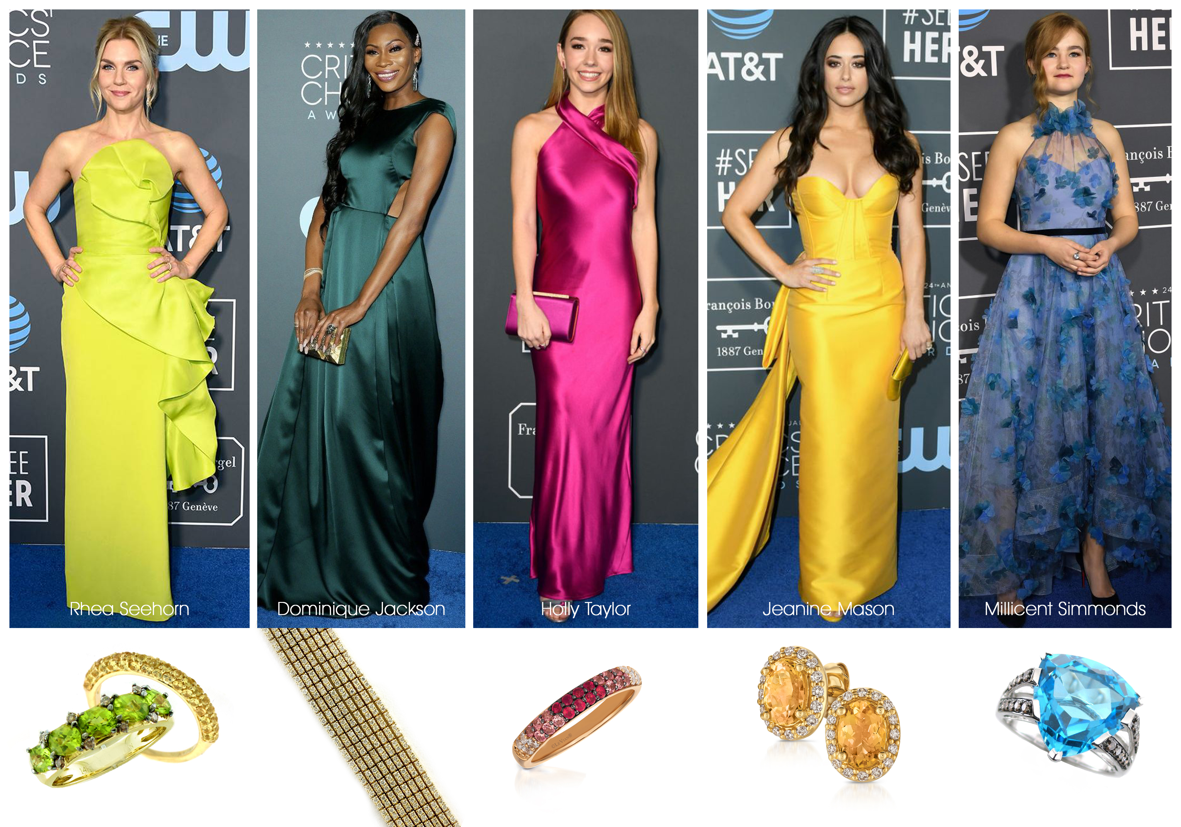 Le Vian Jewelry Spotted at the 24th Annual Critics Choice Awards
