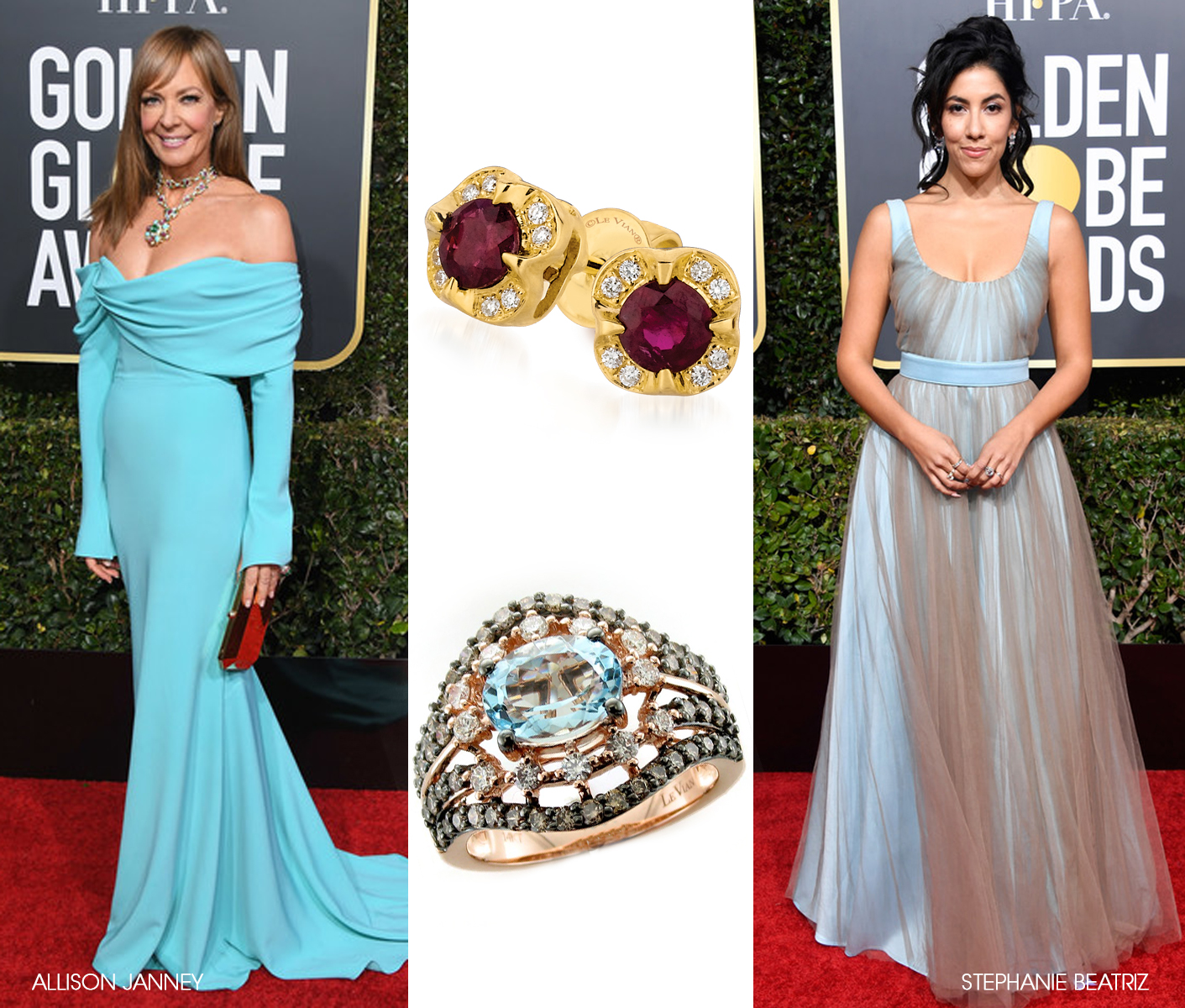 Le Vian Jewelry at the 76th Annual Golden Globes Awards and After Parties