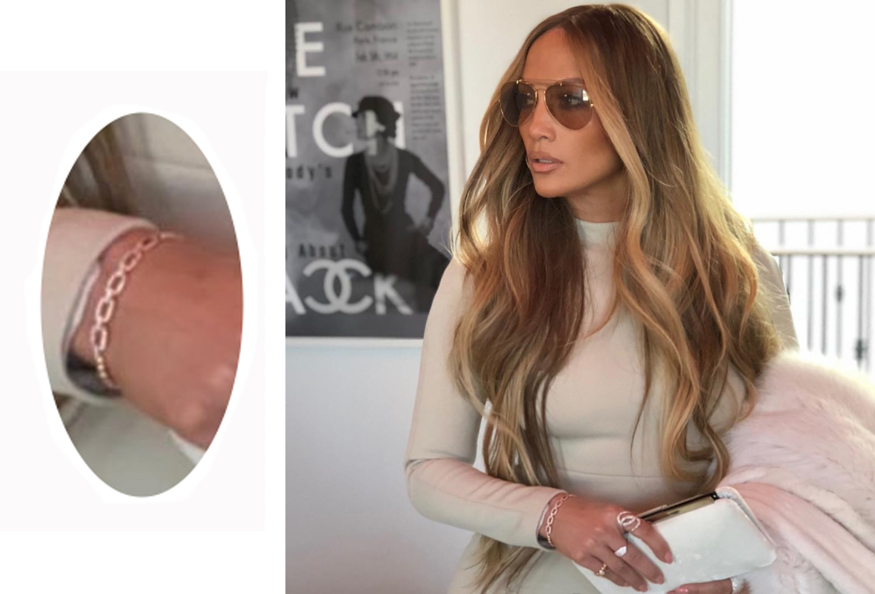 Jennifer Lopez Wearing Le Vian Bracelet on Instagram