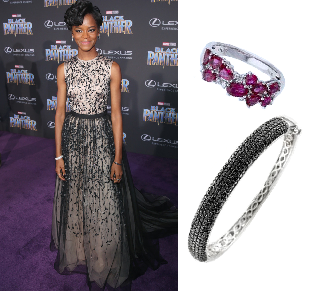 "Letitia Wright Wears Le Vian Jewelry to World Premiere of ""Black Panther"" in Hollywood"