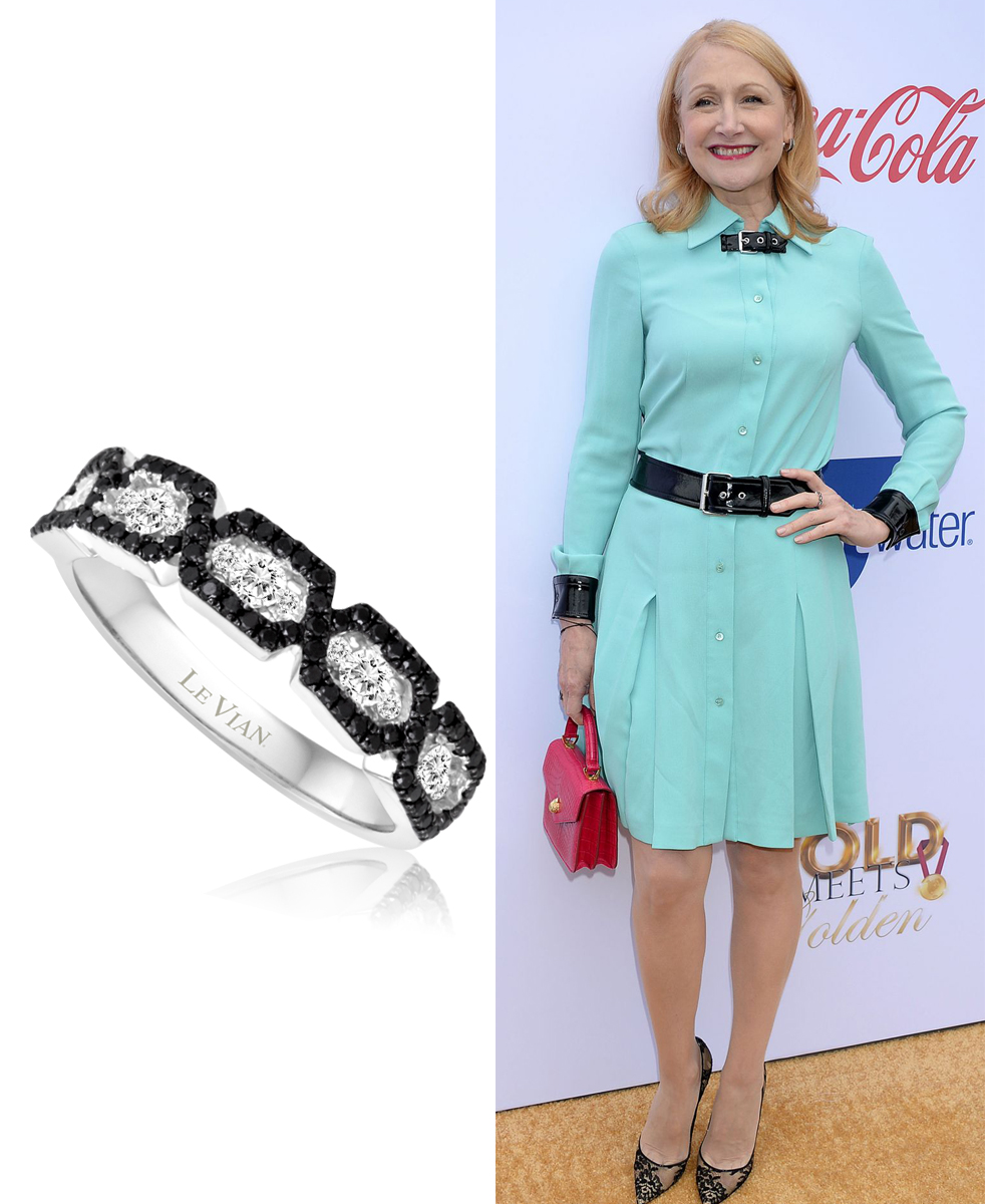 Patricia Clarkson Wearing Le Vian Ring at Gold Meets Golden Party