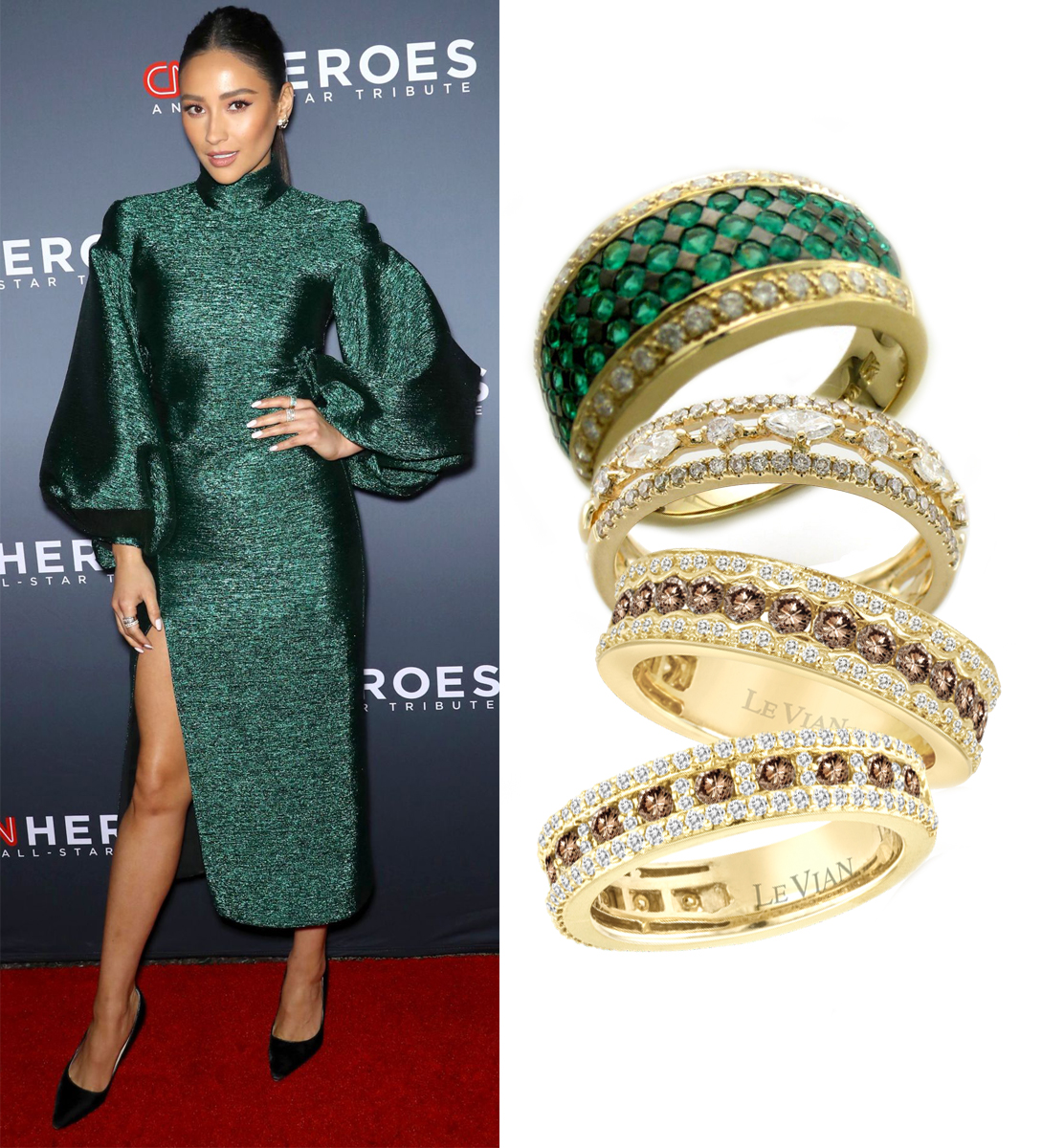 Shay Mitchell Wearing Le Vian Rings at 12th Annual CNN Heroes: An All Star Tribute